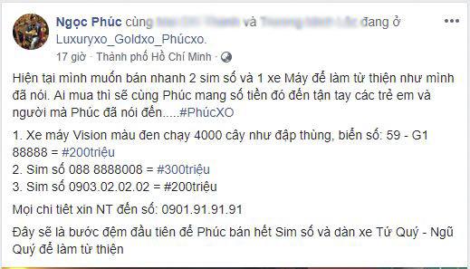 Bắt Phúc XO dân chơi bậc nhất Sài Gòn