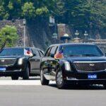 Siêu xe The Beast 2.0 mới của tổng thống Trump được mang tới Nhật Bản