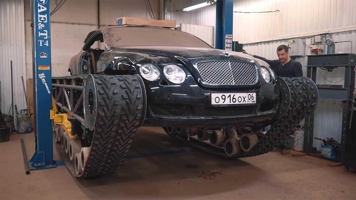 Bentley độ điên rồ thành xe tăng