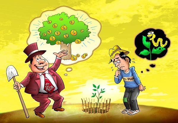 Người giàu, người nghèo hơn nhau
