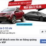 Bán xe hơi trên Facebook đang ngày càng phổ biến
