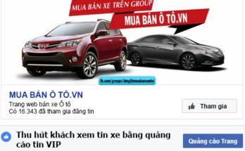 Bán xe hơi trên facebook