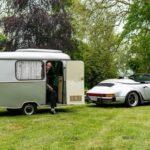 Porsche 911 tự chế thùng nhà di động kéo theo xe
