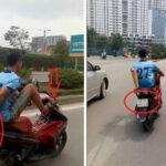 Những hành động biểu diễn xe máy ngớ ngẩn trên đường phố
