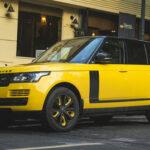Range rover HSE màu vàng độc đáo của đại gia Hà Nội