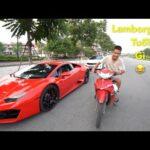 Video Dân chơi vác xe Sirius đua với Lamborghini ở Việt Nam