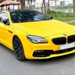 BMW 640 Gran coupe độ màu vàng như siêu xe