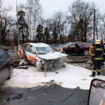 Xe sang Audi A7 mới vừa lái thử đã bị tai nạn nát đầu