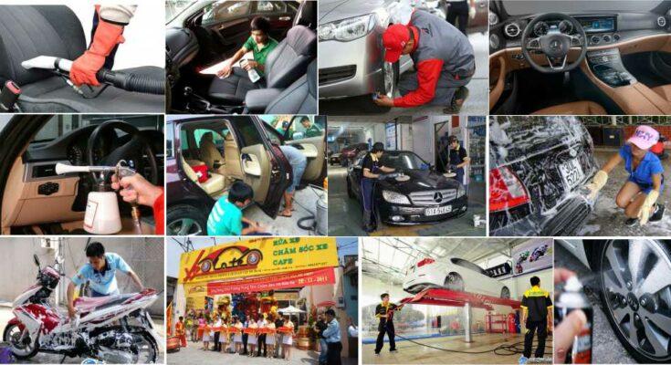 Baoxehoi Vệ sinh xe ô tô sạch sẽ các bước