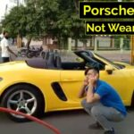 Thiếu gia lái Porsche Boxster không đeo khẩu trang bị CSGT phạt