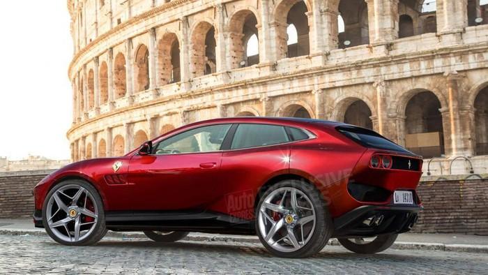 Thân siêu xe SUV coupe Ferrari