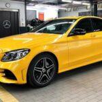 Mercedes C300 AMG sơn màu vàng cực độc