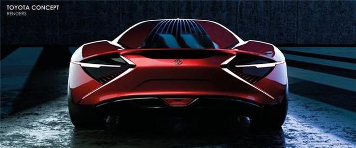 Đuôi siêu xe đẹp Toyota