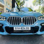 BMW X6 M sport 2021 màu xanh cực hiếm trên phố